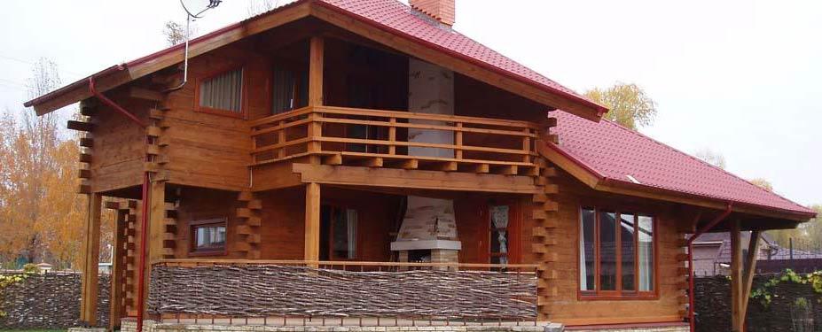 Дома 200-300 м2. Деревянные